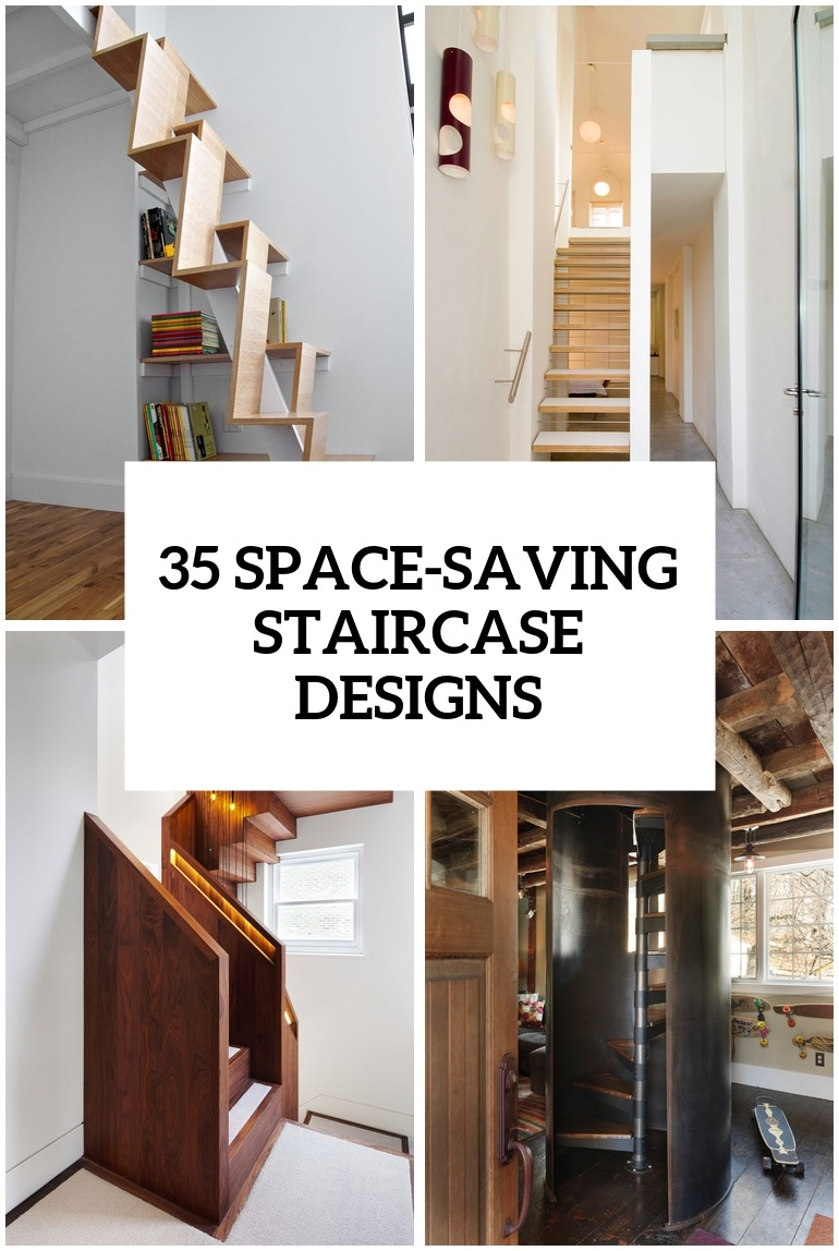 35 Really Cool Space Saving Staircase Designs Digsdigs   Exterior Staircase Designs For Indian Homes   House   Apartment   Grill   Step   Wall