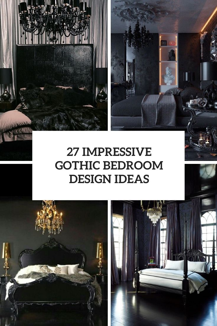 impressive gothic bedroom design ideas