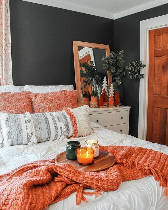Boston designer nina farmer used rich tones of brown and sepia to warm up the. 47 Cozy And Inspiring Bedroom Decorating Ideas In Fall