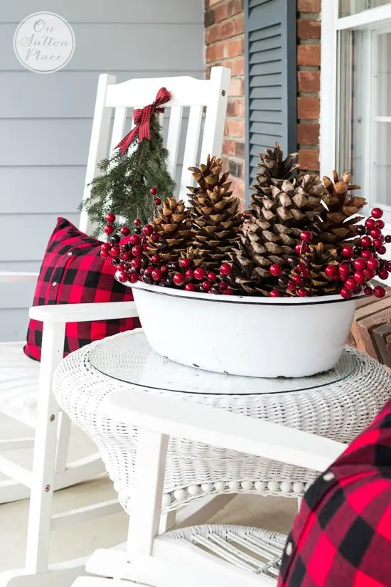 55 Awesome Outdoor And Indoor Pinecone Decorations For ... on Patio Decorating Ideas With Lights  id=95861