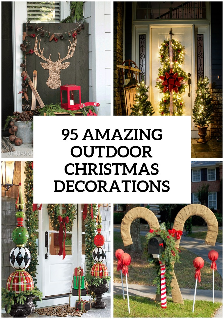 95 Amazing Outdoor Christmas Decorations - DigsDigs on Lawn Decorating Ideas id=36484