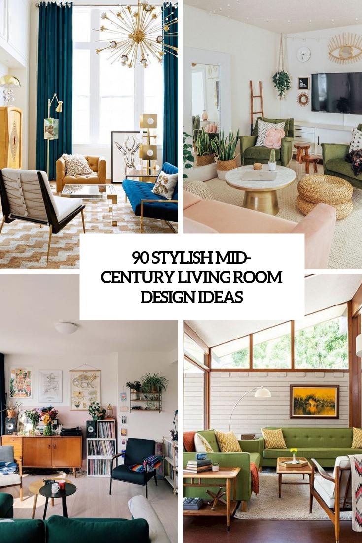 90 stylish mid century living room