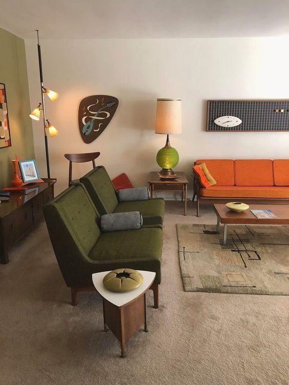 title   Mid Century Modern Boho Living Room