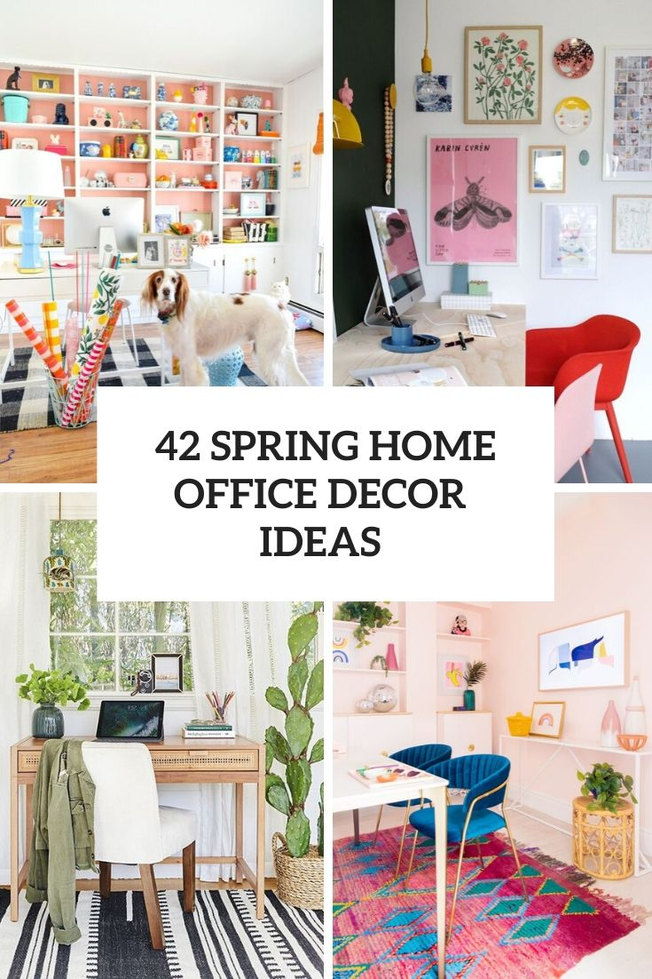 42 Home Office Decor Ideas To Bring Spring To Your Workspace Digsdigs