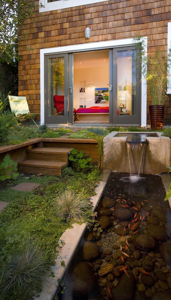 67 Cool Backyard Pond Design Ideas - DigsDigs on Small Pond Waterfall Ideas id=27728
