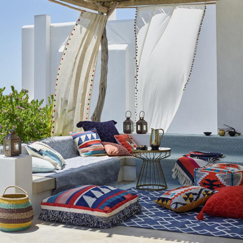 75 Charming Morocco-Style Patio Designs - DigsDigs on Moroccan Backyard Design  id=78997