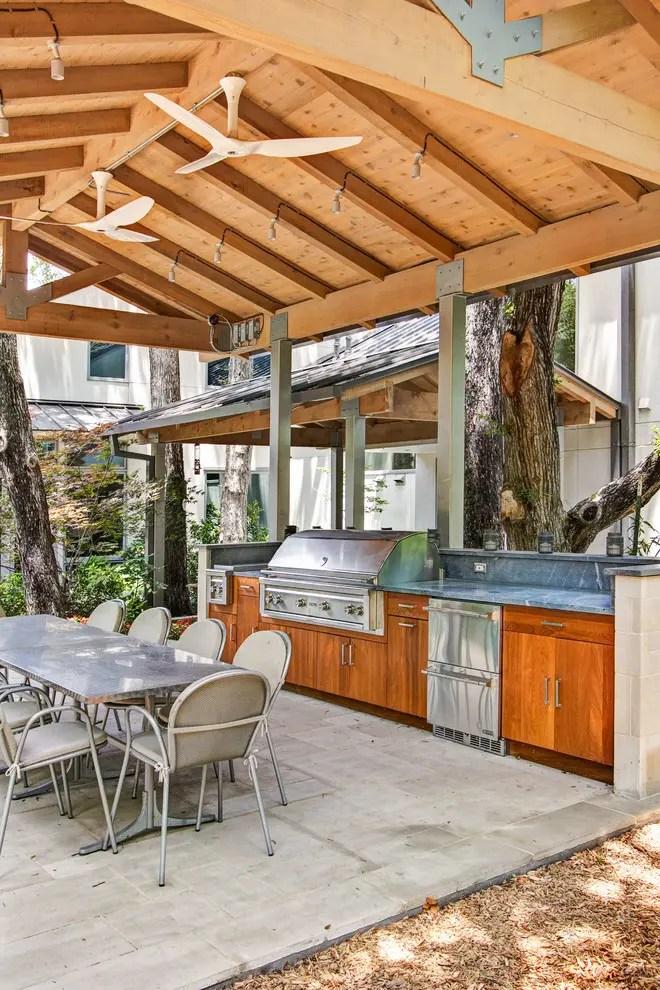 95 Cool Outdoor Kitchen Designs - DigsDigs on Backyard Kitchen Design id=49857