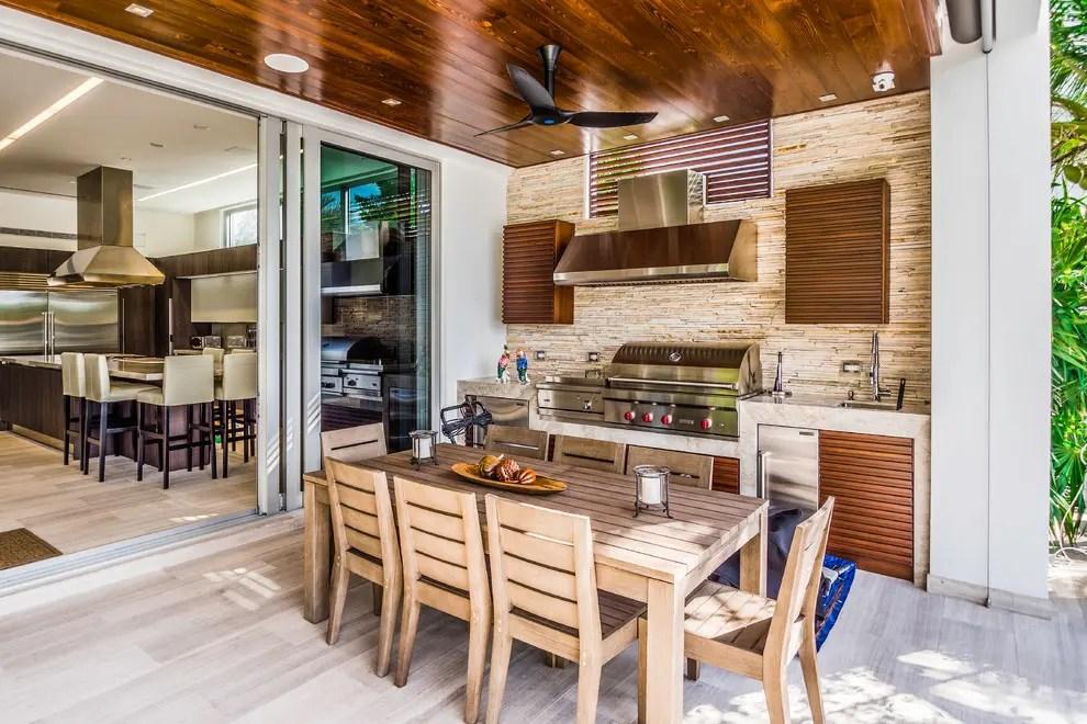 95 Cool Outdoor Kitchen Designs - DigsDigs on Backyard Kitchen Design id=97950
