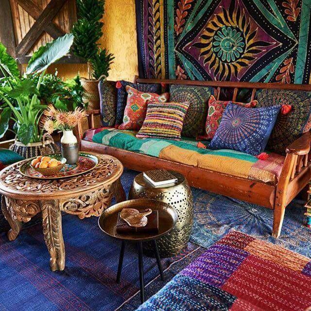 85 Inspiring Bohemian Living Room Designs - DigsDigs on Bohemian Living Room Decor Ideas  id=58823
