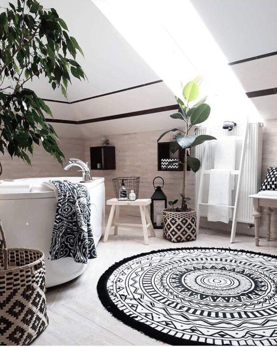 58 Bright Bohemian Bathroom Design Ideas - DigsDigs on Monochromatic Bathroom Ideas  id=57232