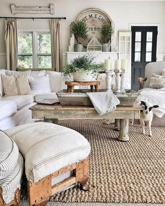 72 airy and cozy rustic living room