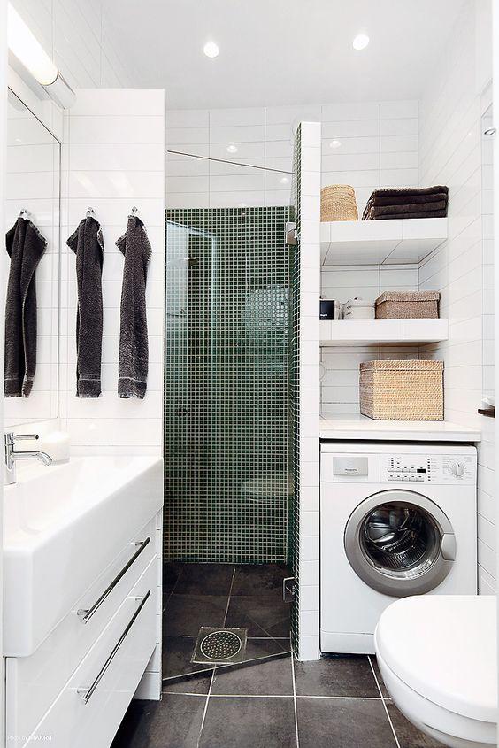 54 Cool And Stylish Small Bathroom Design Ideas - DigsDigs on Small Space Small Bathroom Ideas With Washing Machine id=73949
