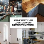 45 Unique Kitchen Countertops Of Different Materials Digsdigs