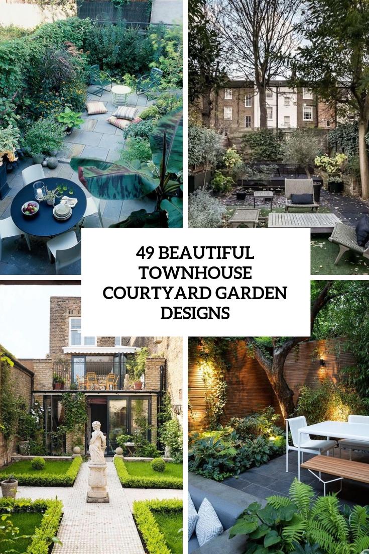 49 beautiful townhouse courtyard garden
