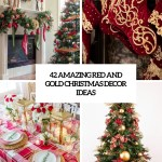 42 Amazing Red And Gold Christmas Decor Ideas Digsdigs