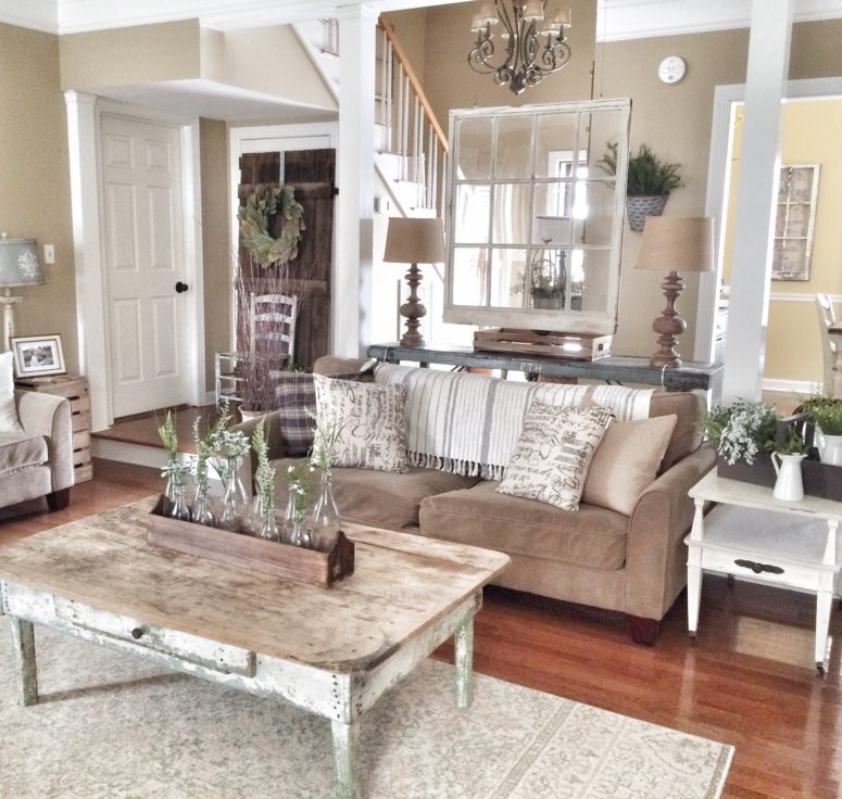 45 comfy farmhouse living room designs to steal digsdigs on colors for farmhouse living room id=62284