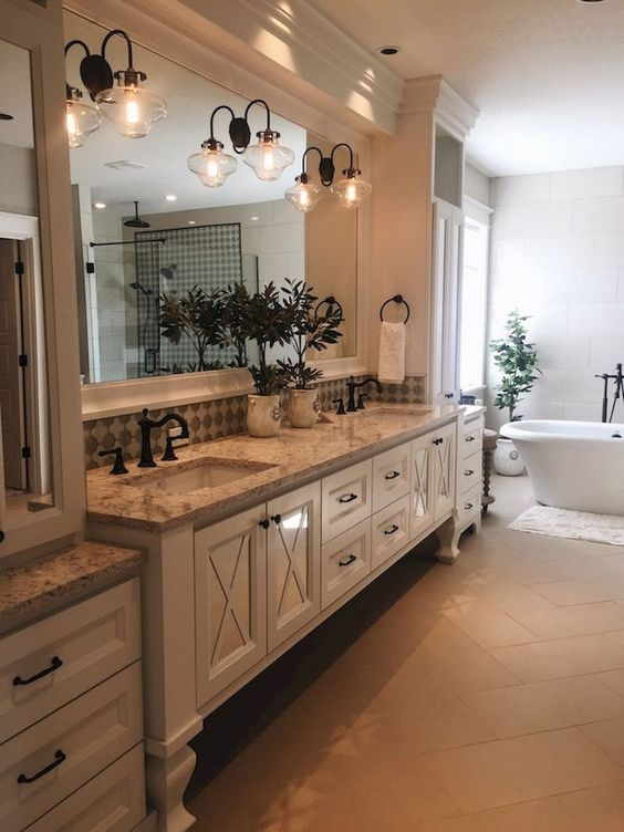 62 Cozy And Relaxing Farmhouse Bathroom Designs - DigsDigs on Farmhouse Modern Bathroom Ideas  id=32436