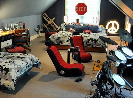 55 Modern And Stylish Teen Boys' Room Designs - DigsDigs on Cool Rooms For Teenage Guys  id=19437