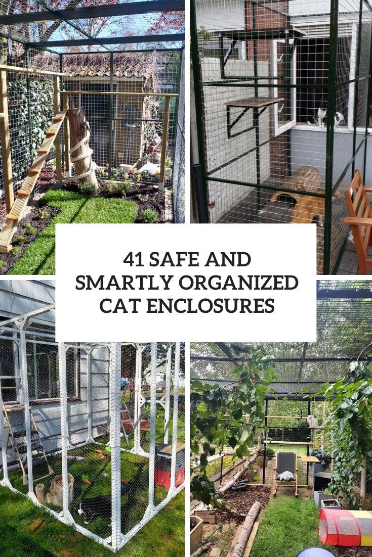 smartly organized cat enclosures