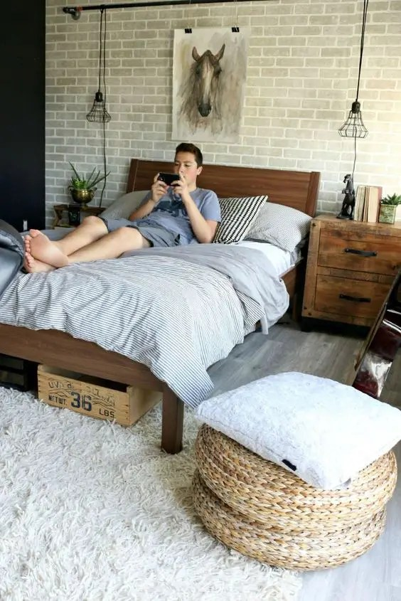 35 Ideas To Organize And Decorate A Teen Boy Bedroom ... on Bedroom Designs For Teenage Guys  id=82847