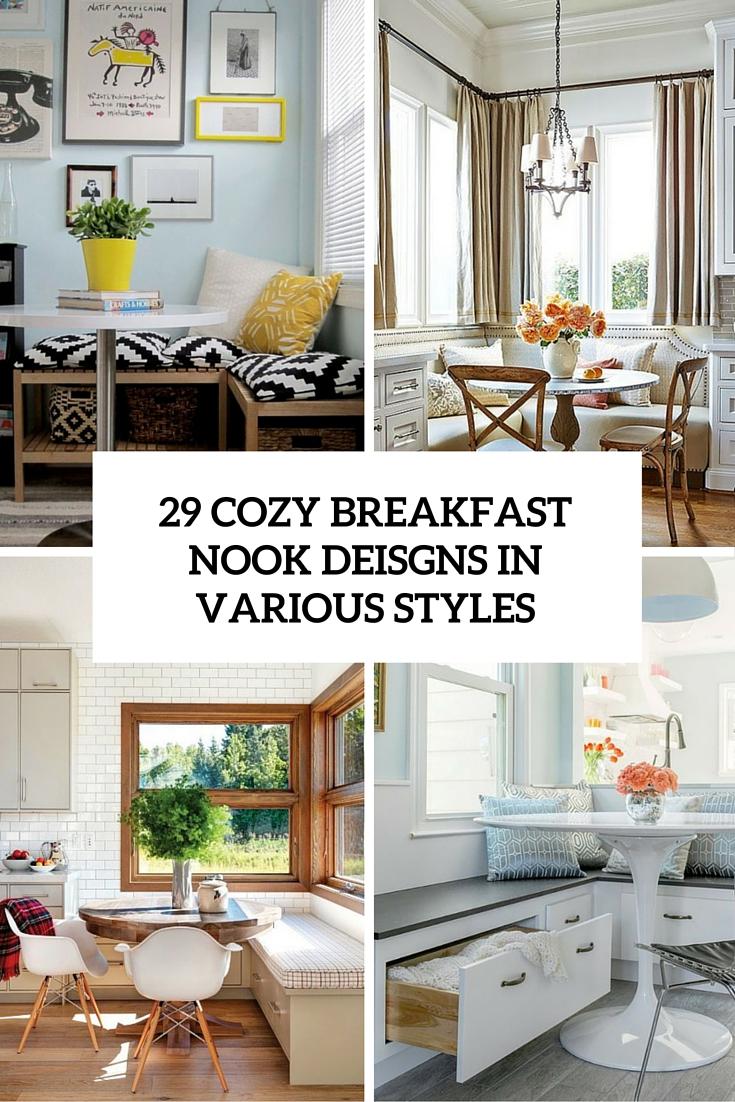29 Breakfast Corner Nook Design Ideas - DigsDigs on Nook's Cranny Design Ideas  id=51061