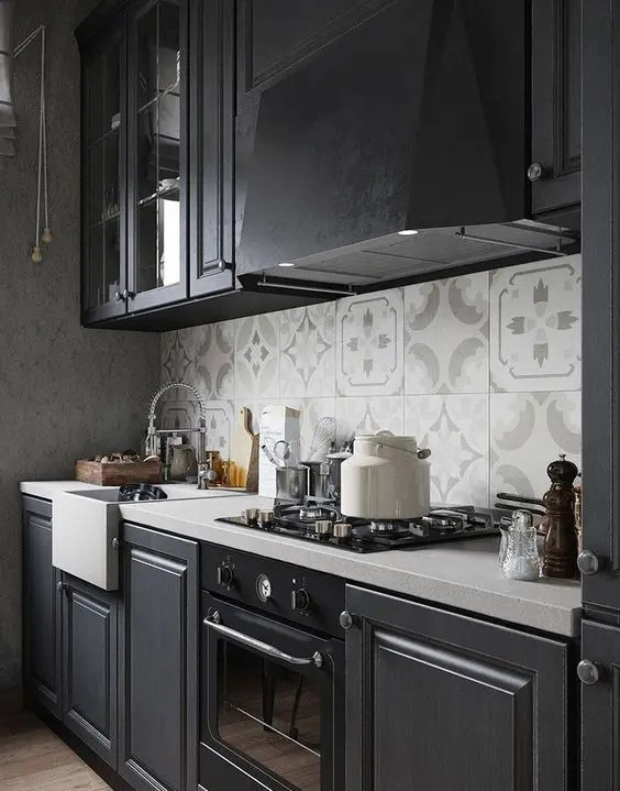 27 Moody Dark Kitchen Dcor Ideas DigsDigs