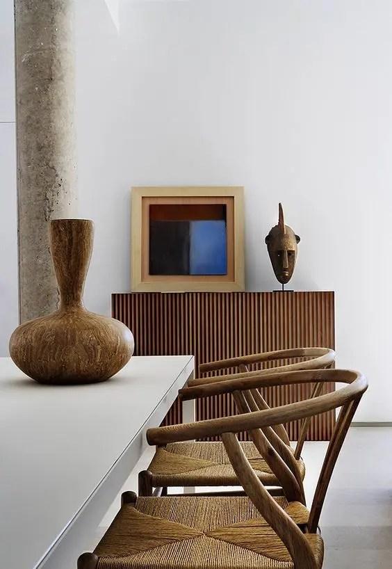 Dark Dining Bench Table Wood