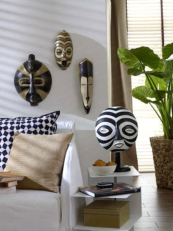 Amazing African Inspired Living Room About Remodel House Decor Ideas With
