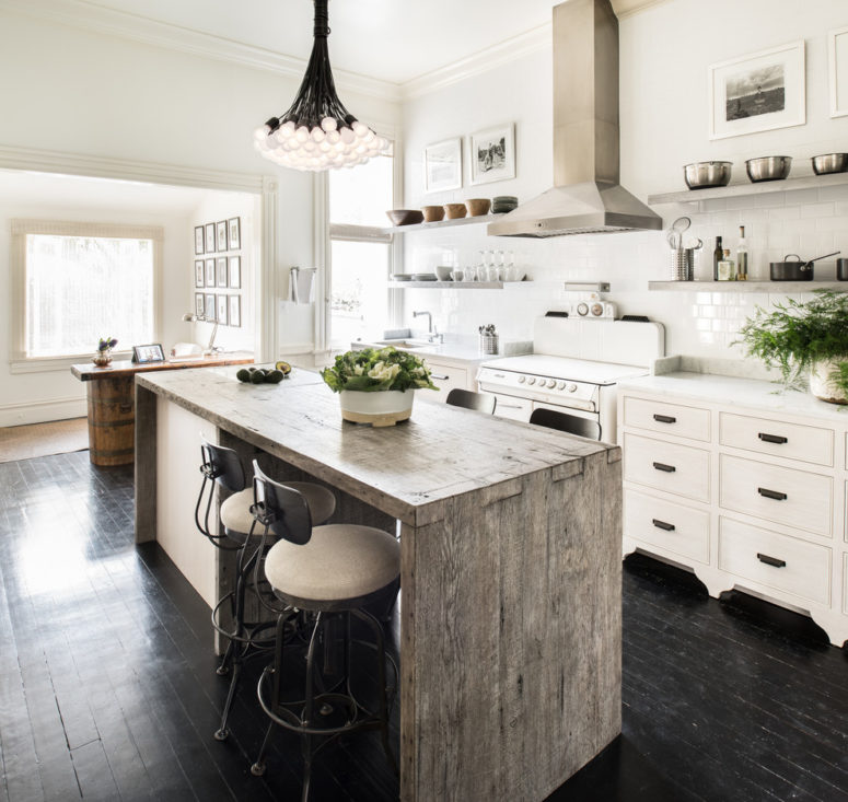 39 Trendy And Chic Waterfall Countertop Ideas - DigsDigs on Modern Kitchen Countertop Decor  id=58429