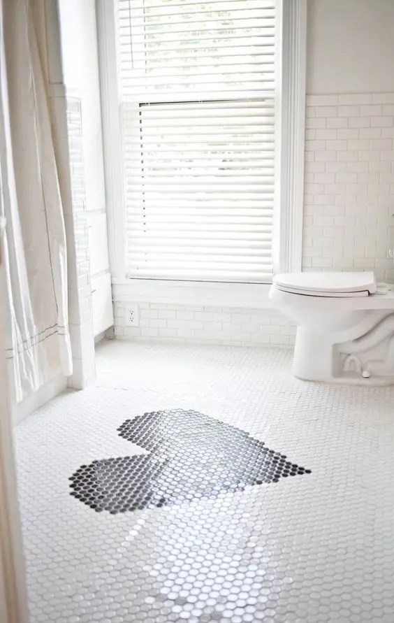 36 trendy penny tiles ideas for bathrooms - digsdigs