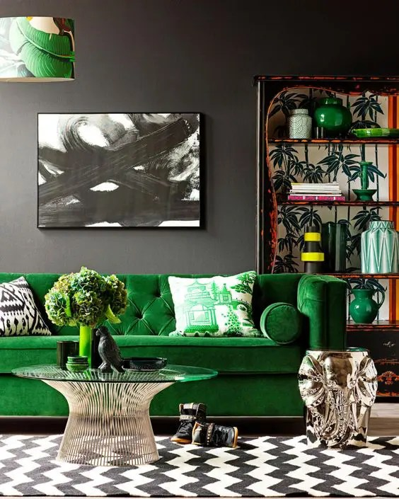 30 Green And Grey Living Room Décor Ideas Digsdigs Part 43