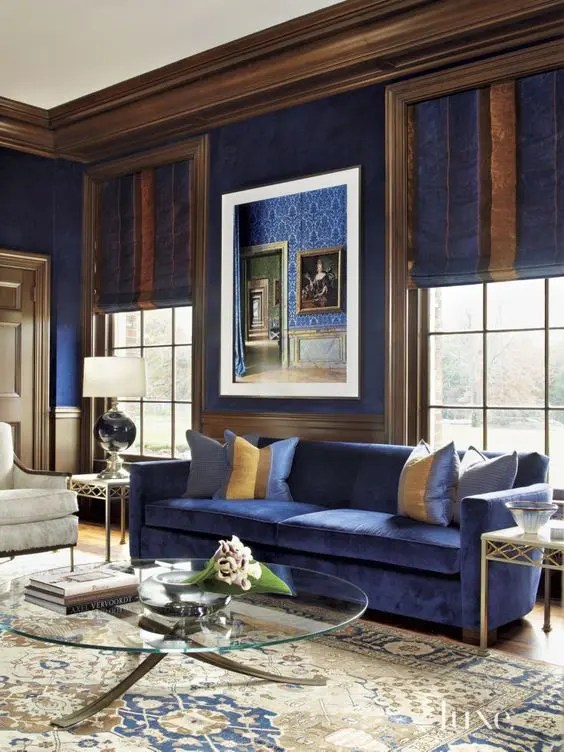 26 Cool Brown And Blue Living Room Designs Digsdigs Part 37