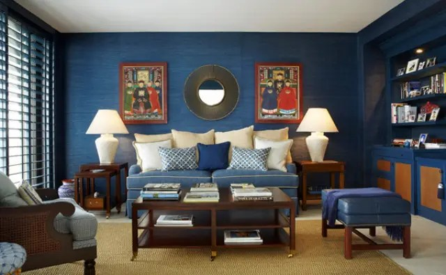 26 Cool Brown And Blue Living Room Designs   DigsDigs beachside living room in blue with calm brown infusions