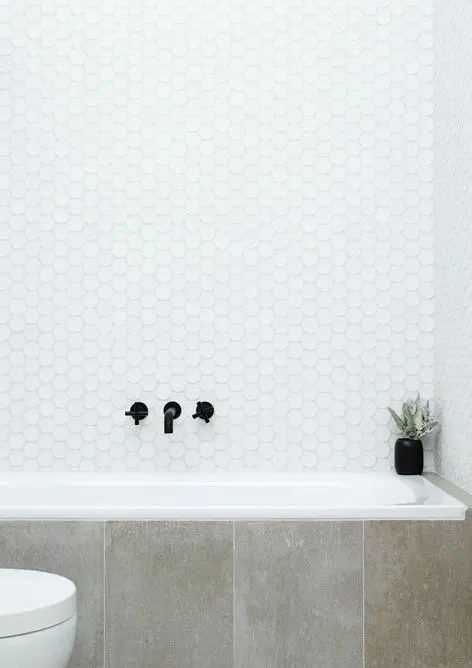 36 Trendy Penny Tiles Ideas For Bathrooms DigsDigs