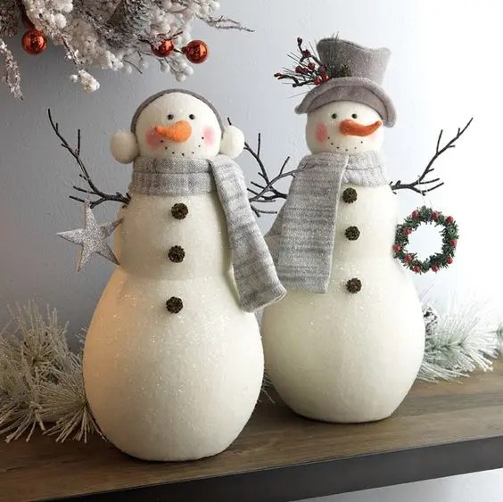 37 Cutest Snowman D    cor Ideas For This Winter   DigsDigs cutest snowmen decorations can be displayed on your mantel or shelf