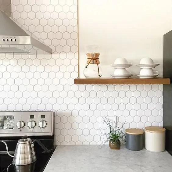 hexagon tile ideas for kitchens