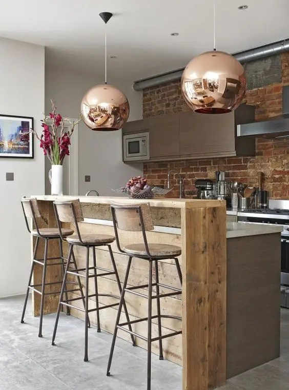 30 Rustic Countertops That Add Coziness To Your Home ... on Modern:0Bjn4Cem9Be= Kitchen Counter  id=70525