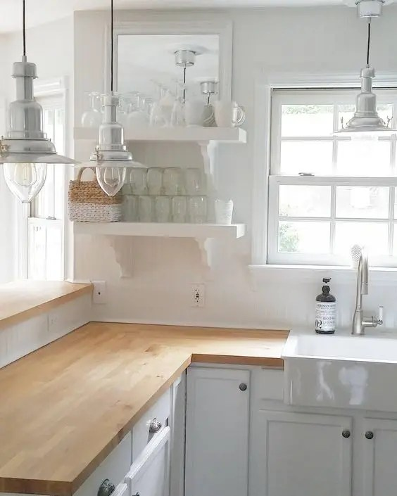 30 Rustic Countertops That Add Coziness To Your Home ... on Farmhouse Countertops  id=37738
