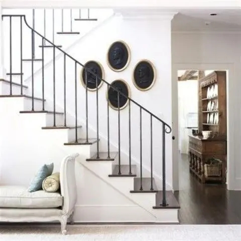 33 Wrought Iron Railing Ideas For Indoors And Outdoors | Wrought Iron Stair Railing Near Me | Steel | Spindles | Wood | Front Porch Railings | Stair Spindles