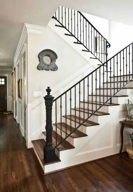 33 Wrought Iron Railing Ideas For Indoors And Outdoors | Wrought Iron Handrail For Steps | Aluminum | Simple | Front Door Step | Forged Iron | Custom