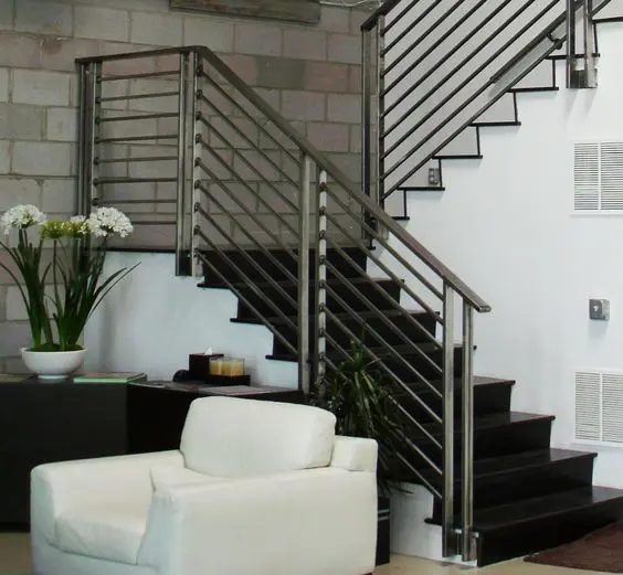 33 Wrought Iron Railing Ideas For Indoors And Outdoors   Modern Stair Rails Indoor   Cheap   Unique Fancy Stair   Modern Style   White Oak   Balustrade