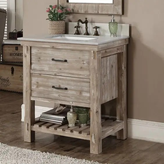 34 Rustic Bathroom Vanities And Cabinets For A Cozy Touch ... on {keyword}