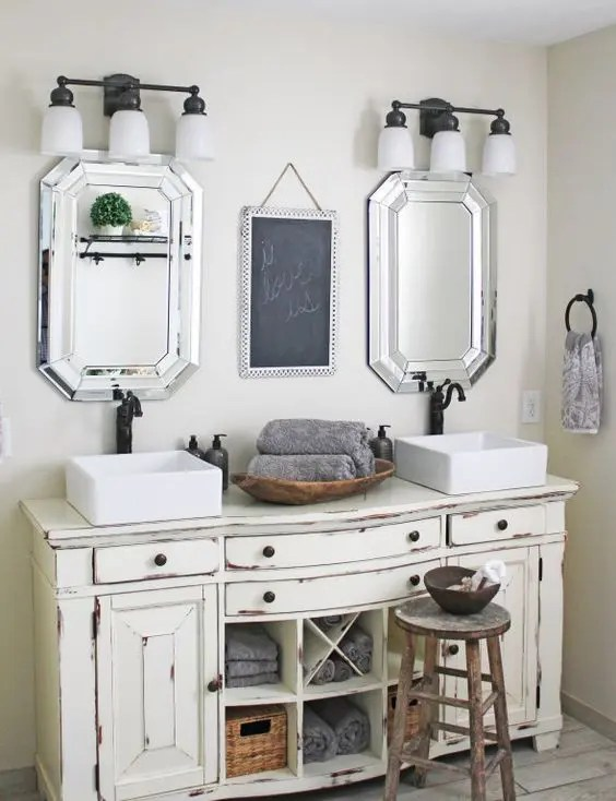 29 vintage and shabby chic vanities for your bathroom - digsdigs
