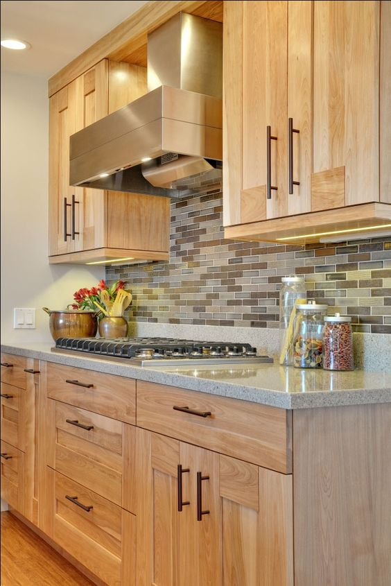 29 Quartz Kitchen Countertops Ideas With Pros And Cons ... on Light Maple Kitchen Cabinets With Granite Countertops  id=96927