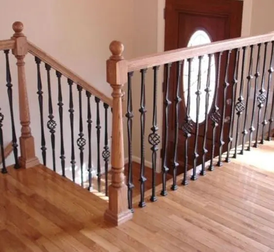33 Wrought Iron Railing Ideas For Indoors And Outdoors | Wood And Metal Handrail | Farmhouse | Contemporary | Indoor | Industrial | Modern