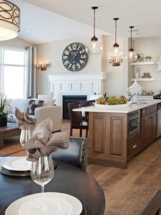 30 Spacious And Airy Open Plan Kitchen Ideas DigsDigs