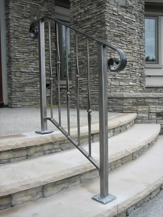 33 Wrought Iron Railing Ideas For Indoors And Outdoors | Wrought Iron Hand Railings For Outdoor Stairs | Indoor | Colonial | Cast Iron | Interior | Bronze