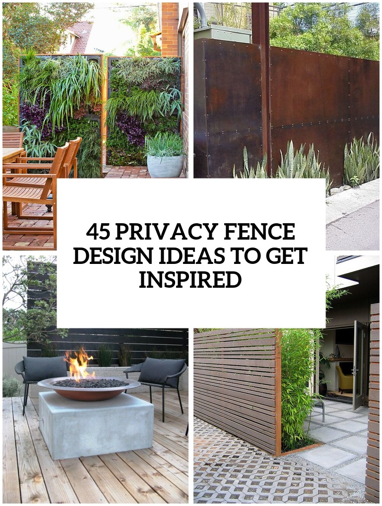 34 Privacy Fence Design Ideas To Get Inspired - DigsDigs on Backyard Wooden Fence Decorating Ideas id=32950
