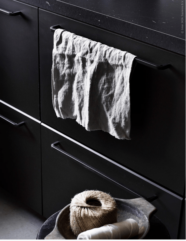 Black IKEA Kungsbacka Kitchen Of Recycled Timber DigsDigs