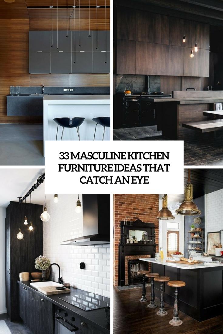 33 Masculine Kitchen Furniture Ideas That Catch An Eye DigsDigs